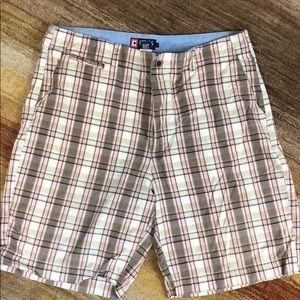 Men's plaid shorts. Worn once